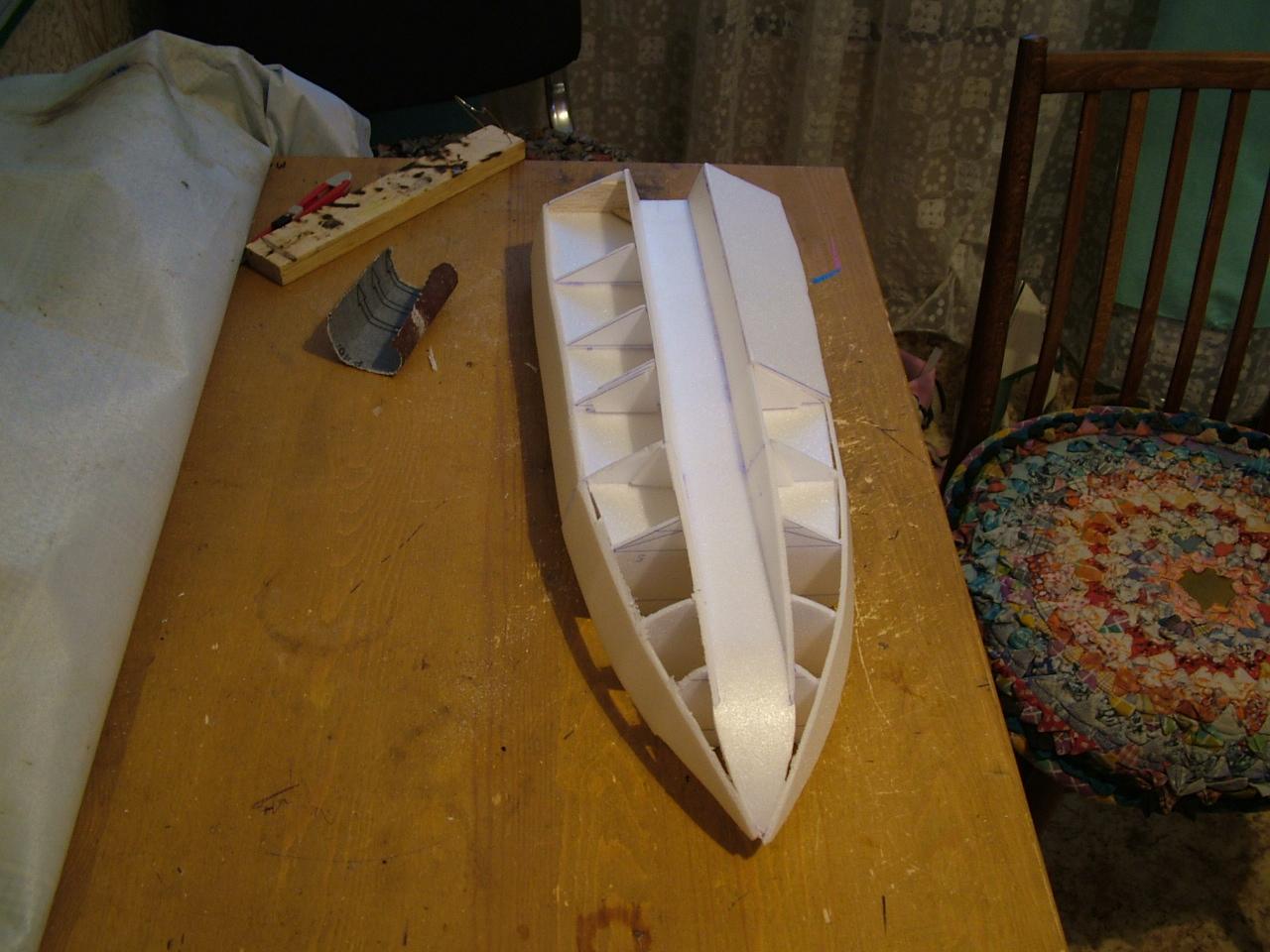 Лодка из пенопласта своими руками детская 10