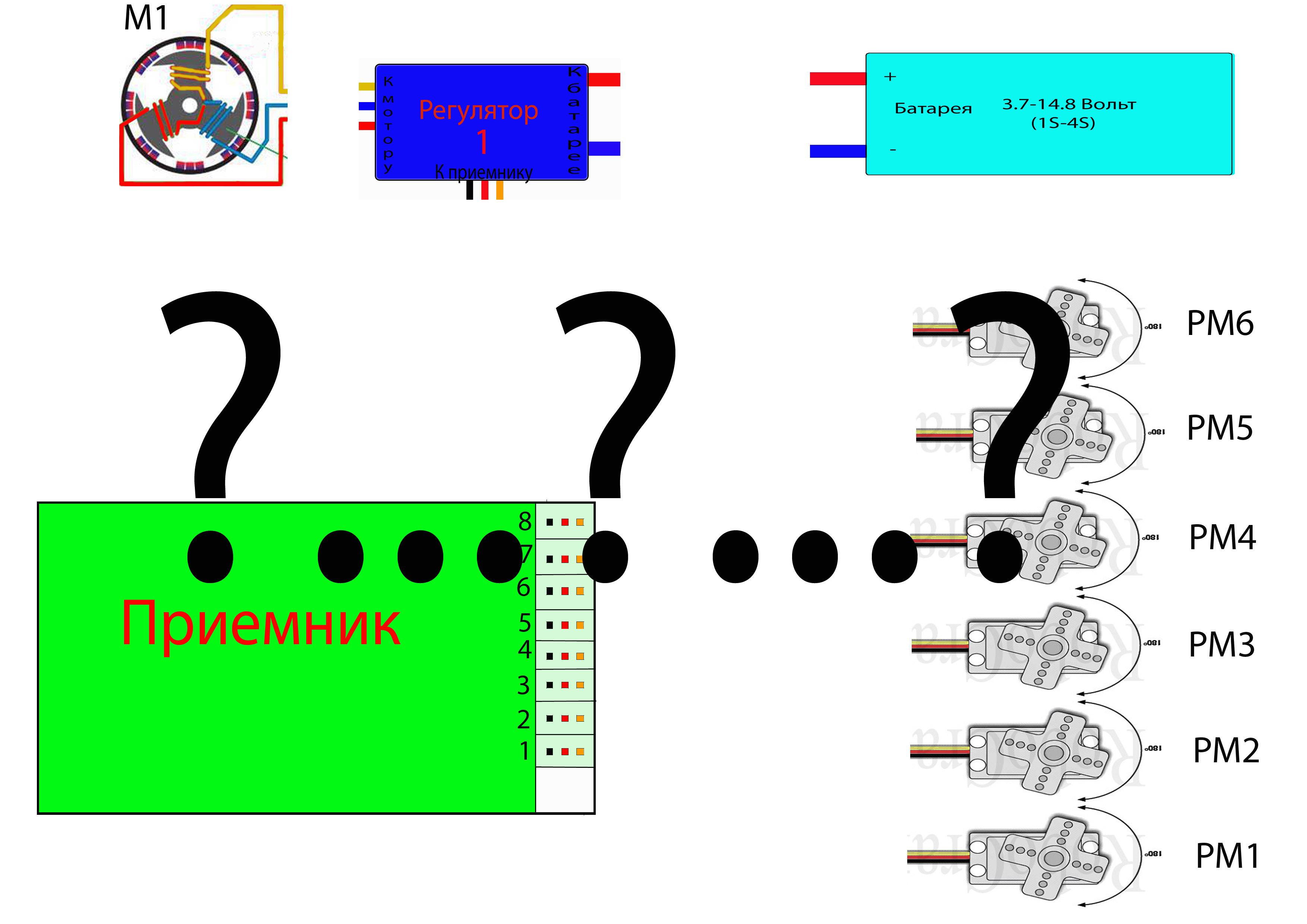 схема управления коллекторным двигателем авиамодели