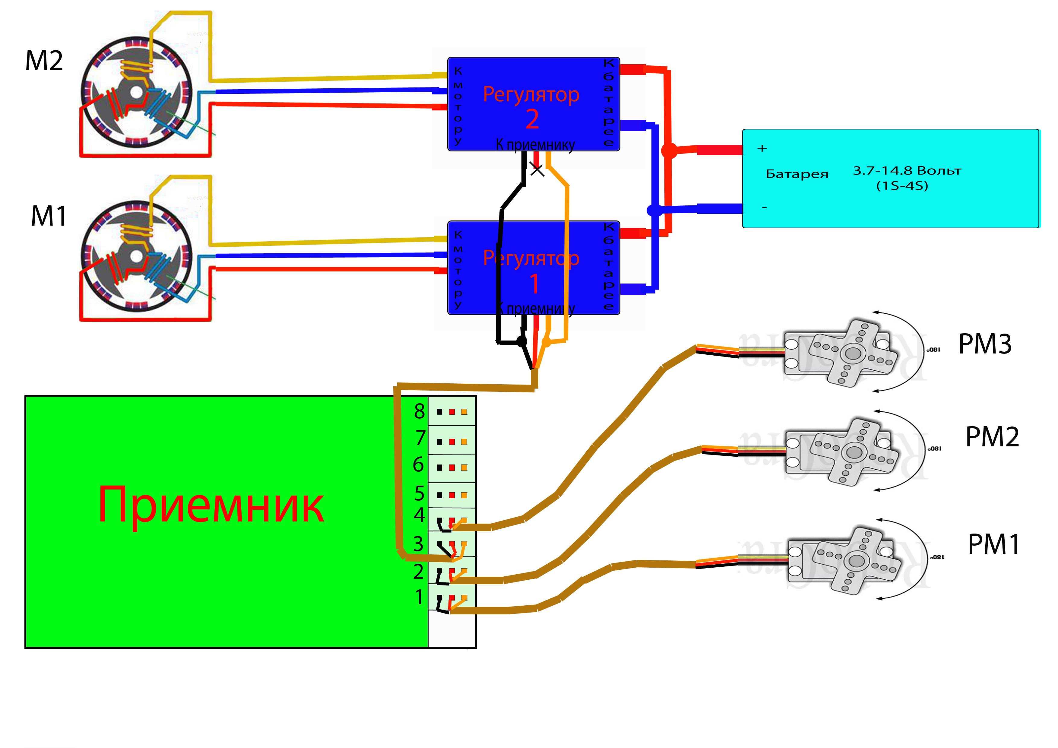 Схема приемника 2 ггц