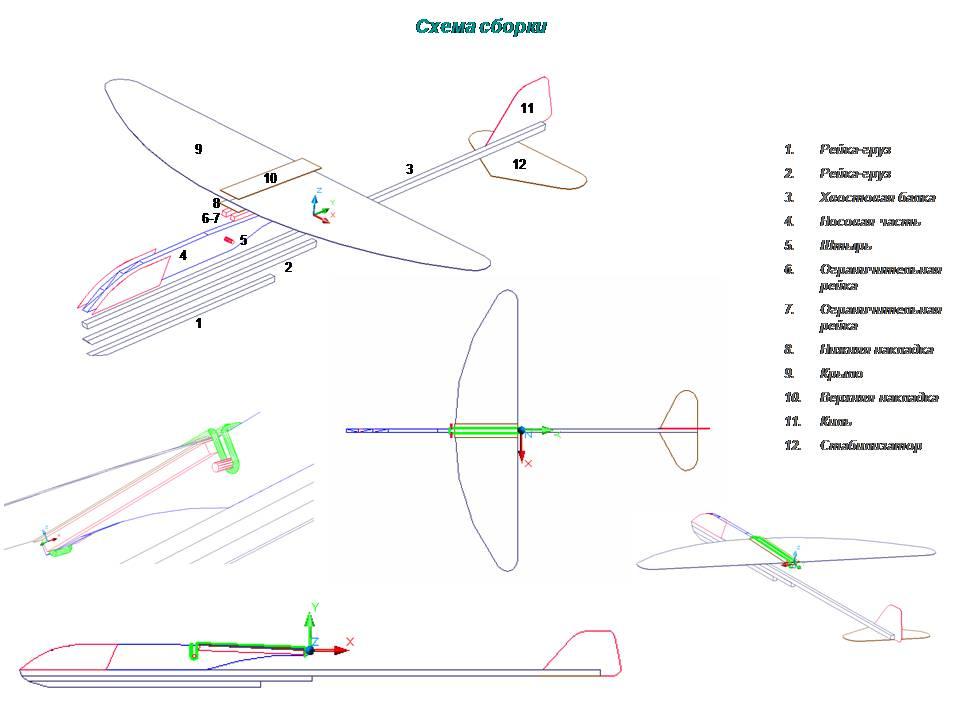 Модель самолёта МиГ-21