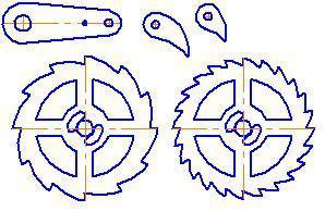 Шестеренки своими руками из фанеры чертежи 76