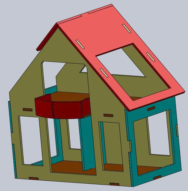 Выкройки кукольных домов