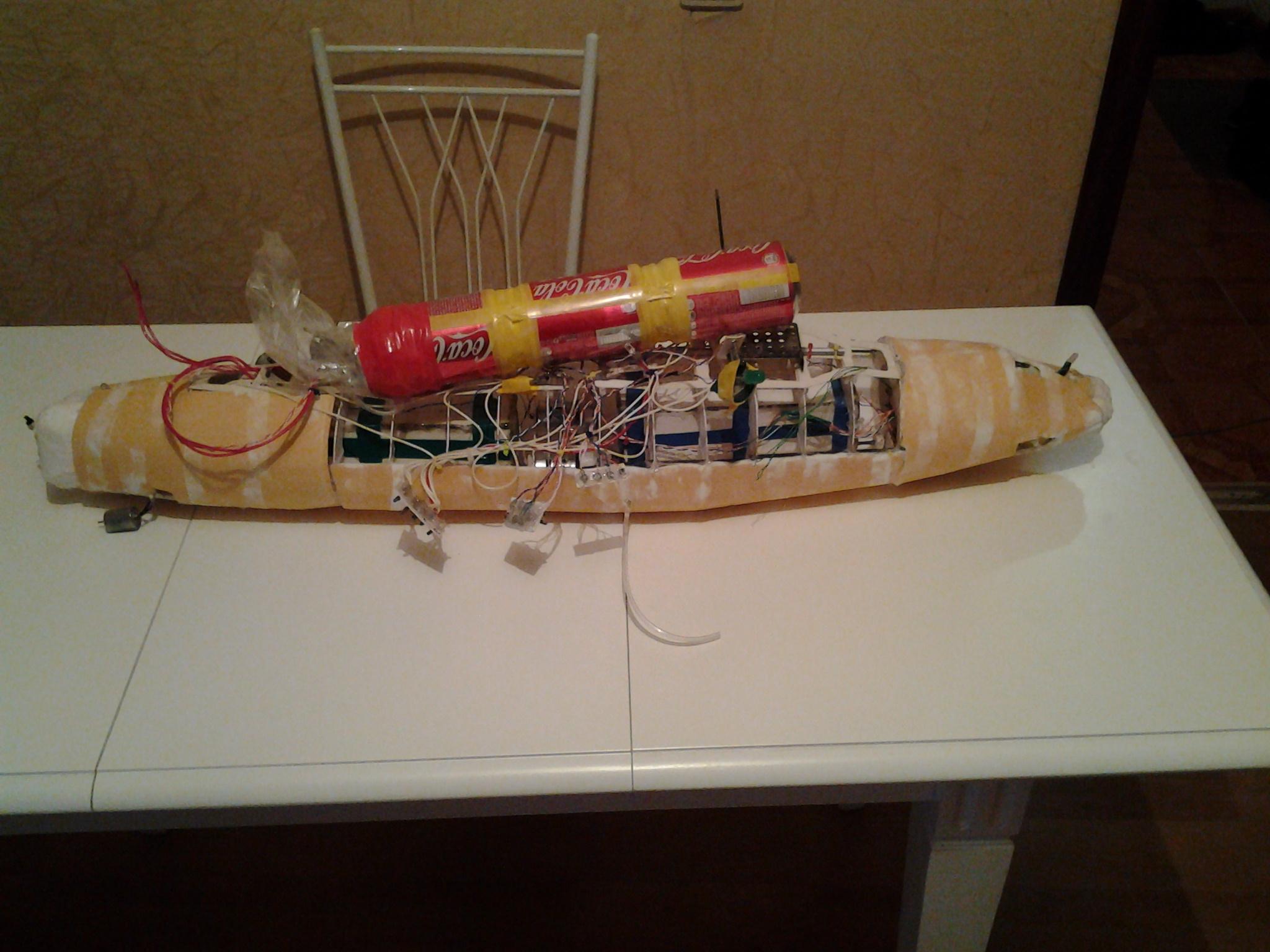 Модель подводной лодки на радиоуправлении своими руками