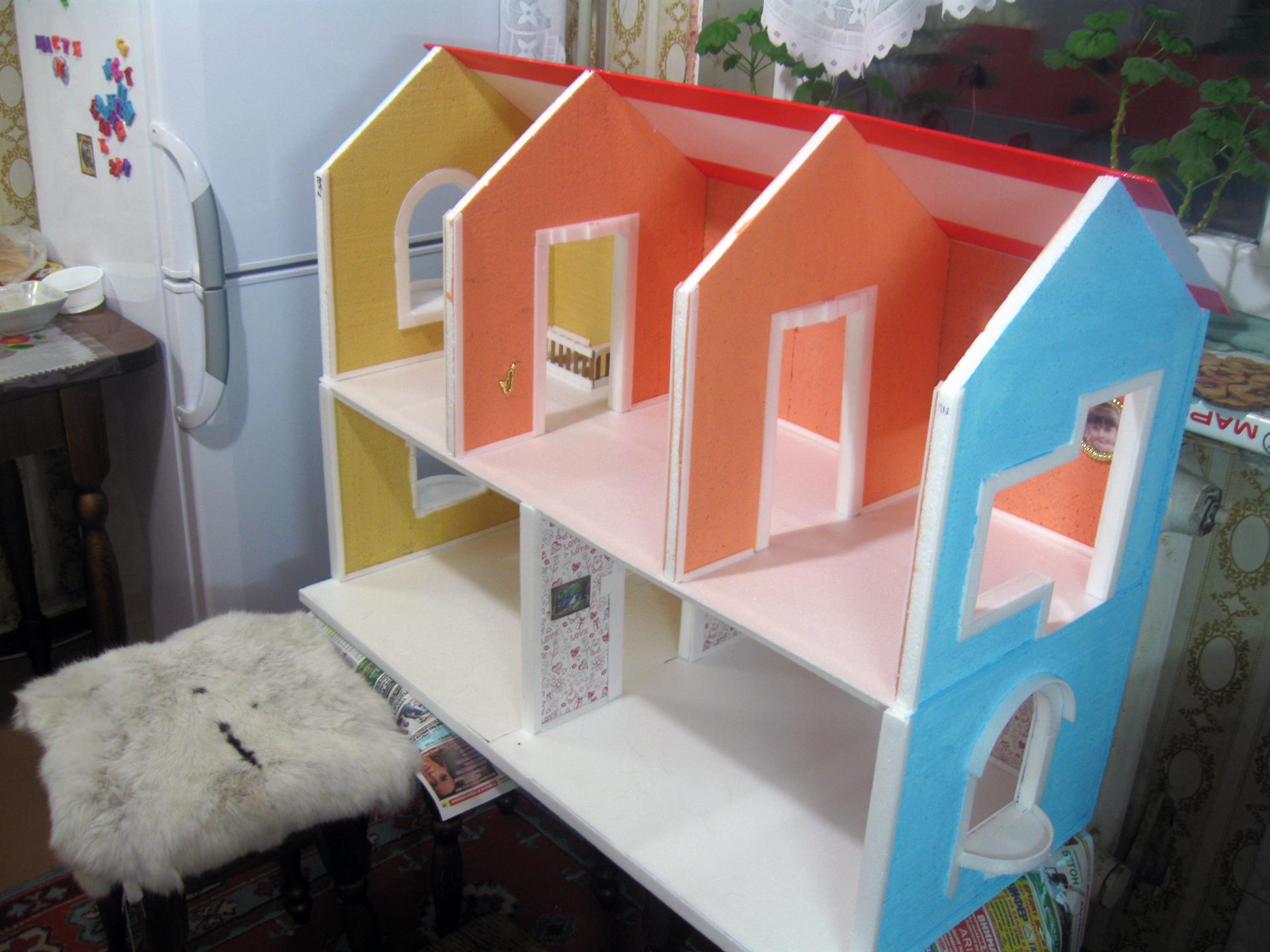 Кукольный домик своими руками - 66 фото создания игрушечного 8