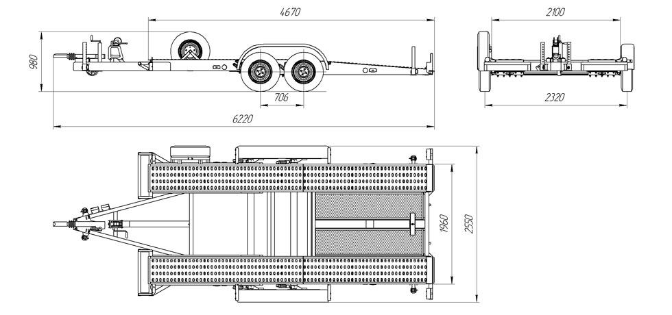 Прицеп для машины своими руками чертежи размеры фото 41