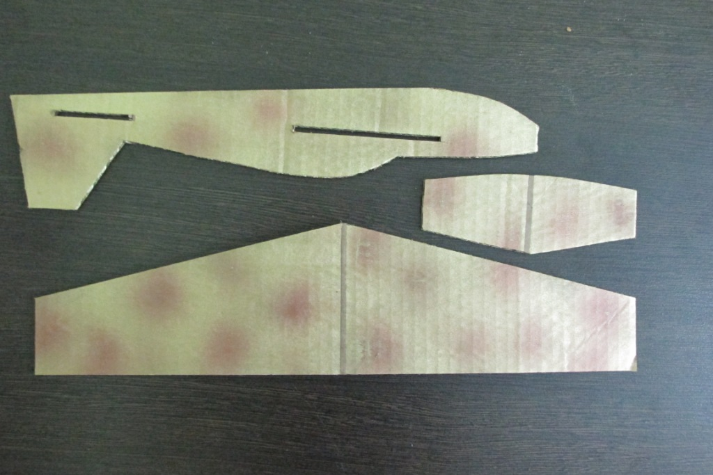 Самолет из картона своими руками шаблоны