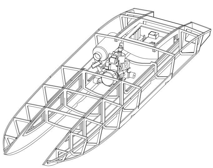чертеж для радиоуправляемой лодки