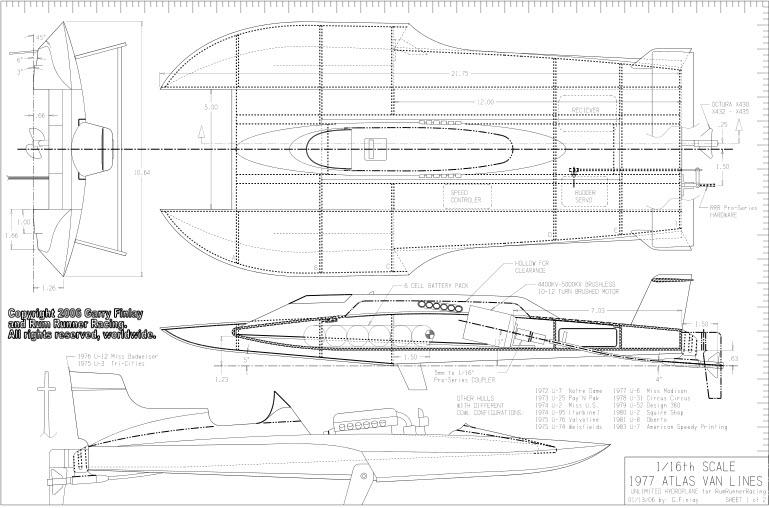 чертеж спортивных лодок