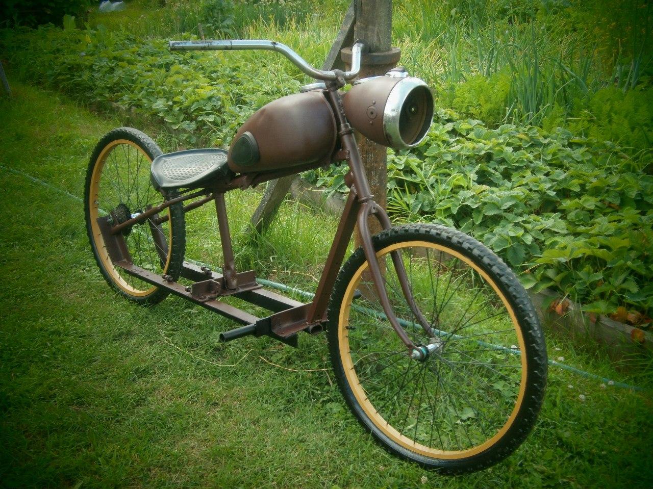 Как сделать велосипед с мотором своими руками: самодельный 99