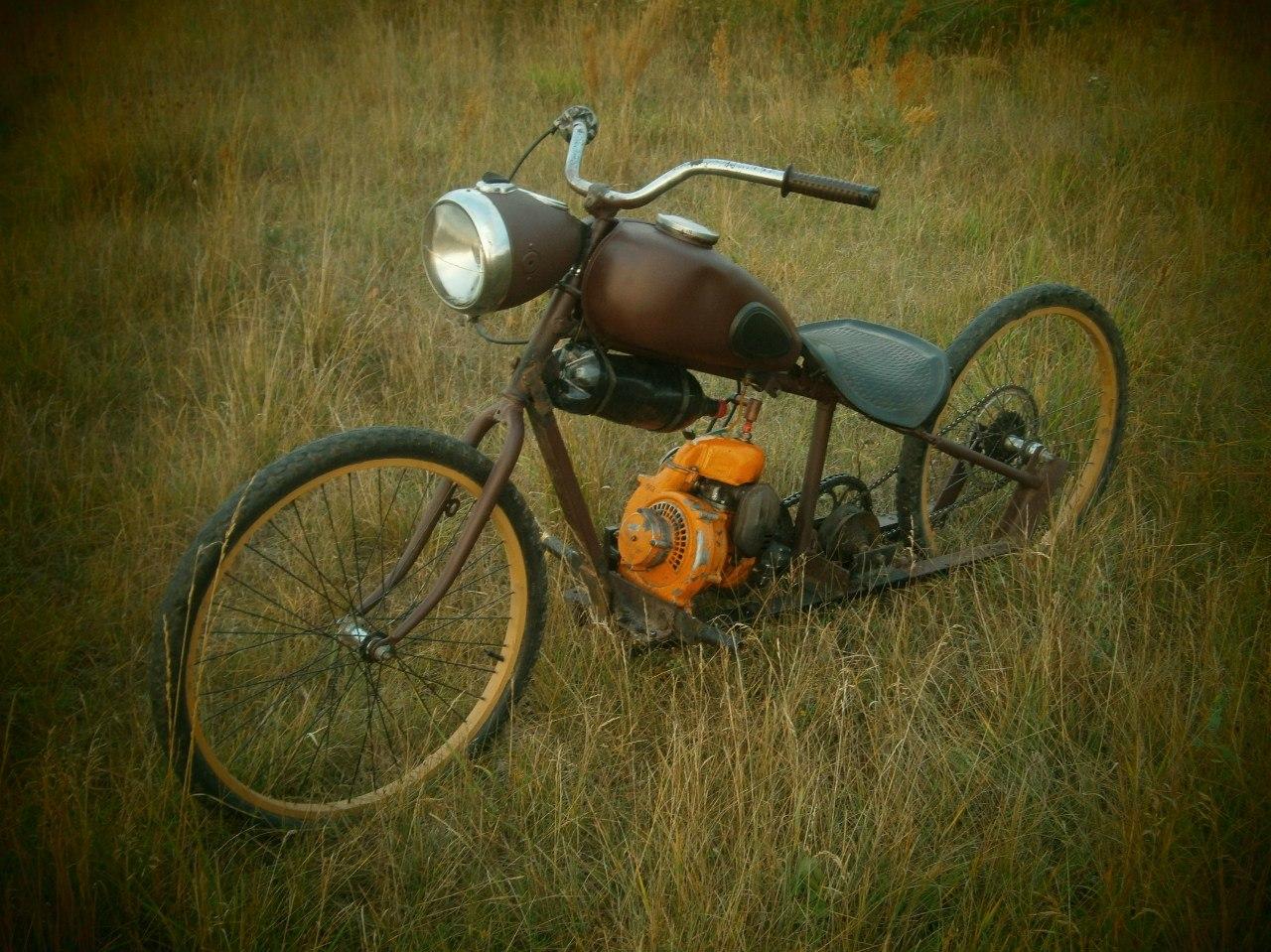 Как сделать велосипед с мотором своими руками: самодельный 78