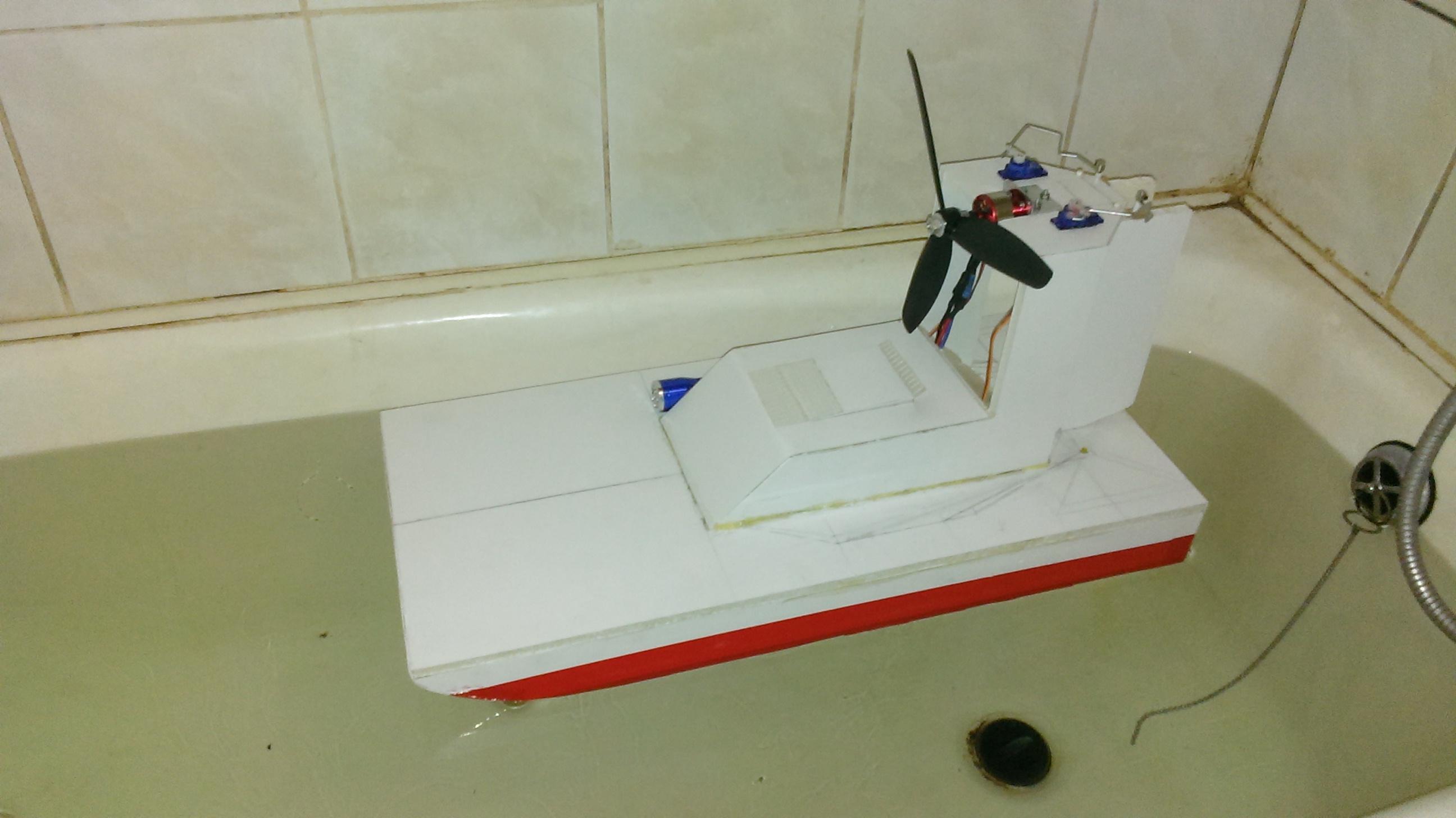 Сделать лодку из пенопласта с моторчиком своими руками 67