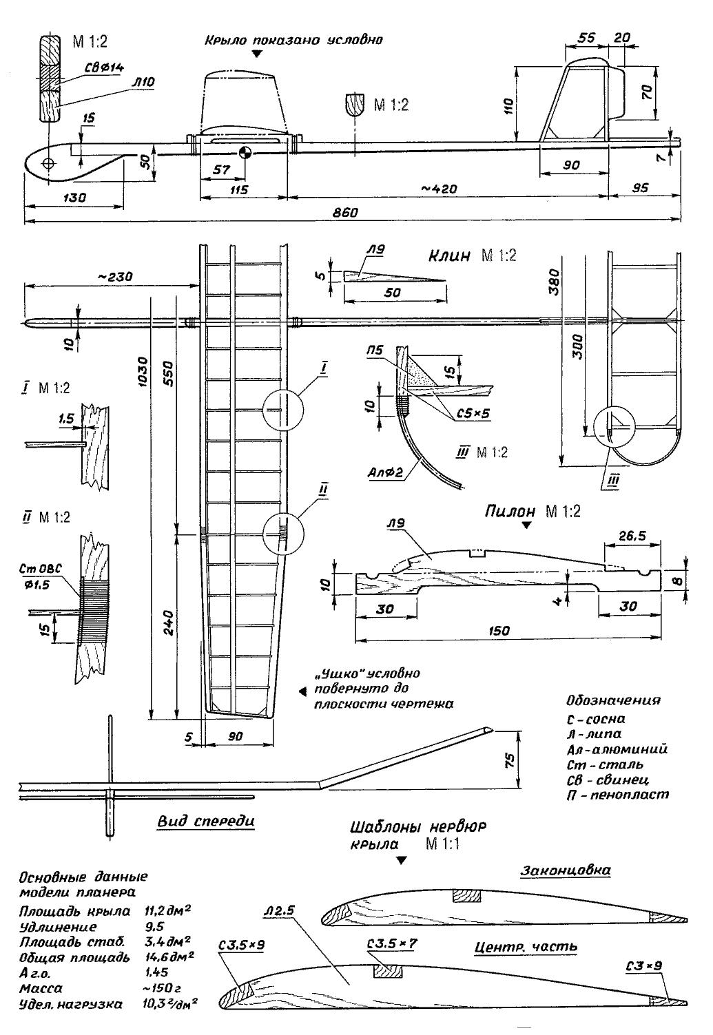 Планер своими руками чертежи схемы инструкция